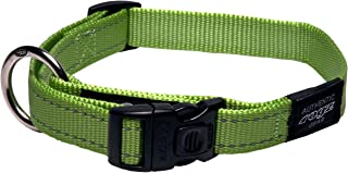 Rogz Reflective Dog Collar, Lime, X-Large