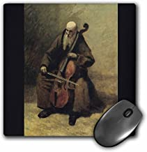 3dRose BLN Music Featured in Fine Art Collection – Monk with a Cello, 1874 by Jean Baptiste Camille Corot – MousePad (mp_173825_1)