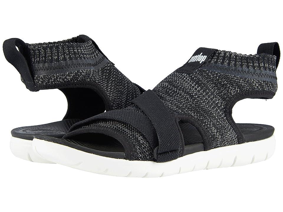 FitFlop Uberknit Back Strap Sandals (Black/Soft Grey) Women