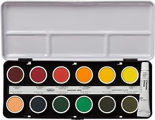 ホルベイン 固形水彩絵具 透明ケーキカラー 24色セット C012 直径25mm