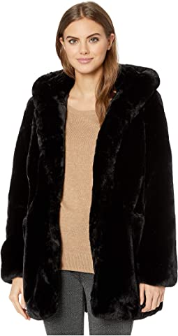 Marie Hooded Faux Fur Coat