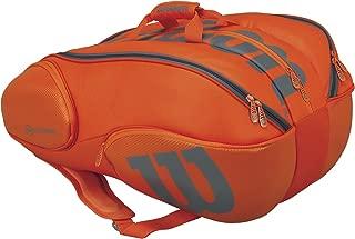Wilson Burn Collection Racket Bag (15 Pack), Orange/Gray