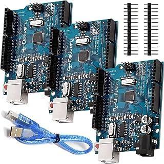 AZDelivery 3 x Microcontrolador ATmega328P Tarjeta Placa de desarrollo con Cable USB compatible con Arduino con E-Book inc...