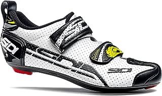 Sidi T-4 Air Carbon Triathlon Shoes (EU 39.5, White/Black)