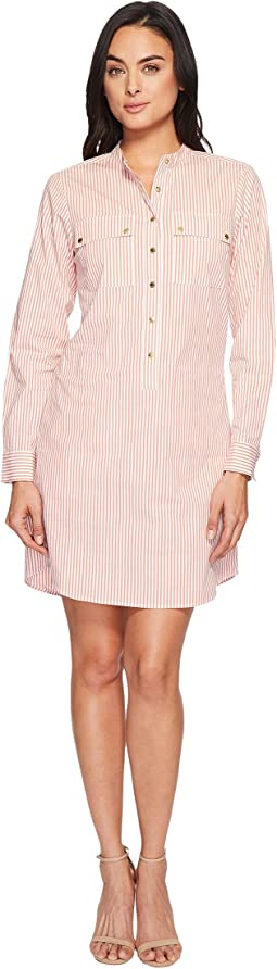 Yarn-Dye Stripe Button Down Dress