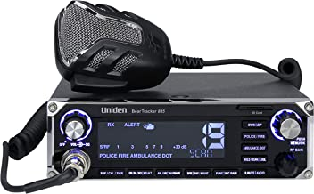 Uniden BEARTRACKER 885 Hybrid Full-Featured CB Radio + Digital TrunkTracking Police/Fire/Ambulance/DOT Scanner w/ BearTracker Warning System Alerts, 40-channel CB, 4-Watts power, 7-color display.