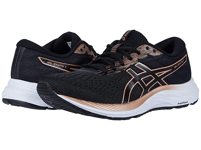 ASICS  GEL-Excite 7 (Black/Rose Gold) Womens Running Shoes