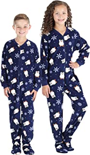 snowflake pajamas girls