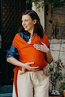 Boba Wrap Baby Carrier, Sienna Dot Serenity Blend - Original Stretchy Infant Sling, Perfect for Newborn Babies and Children up to 35 lbs. Made with Viscose from Bamboo
