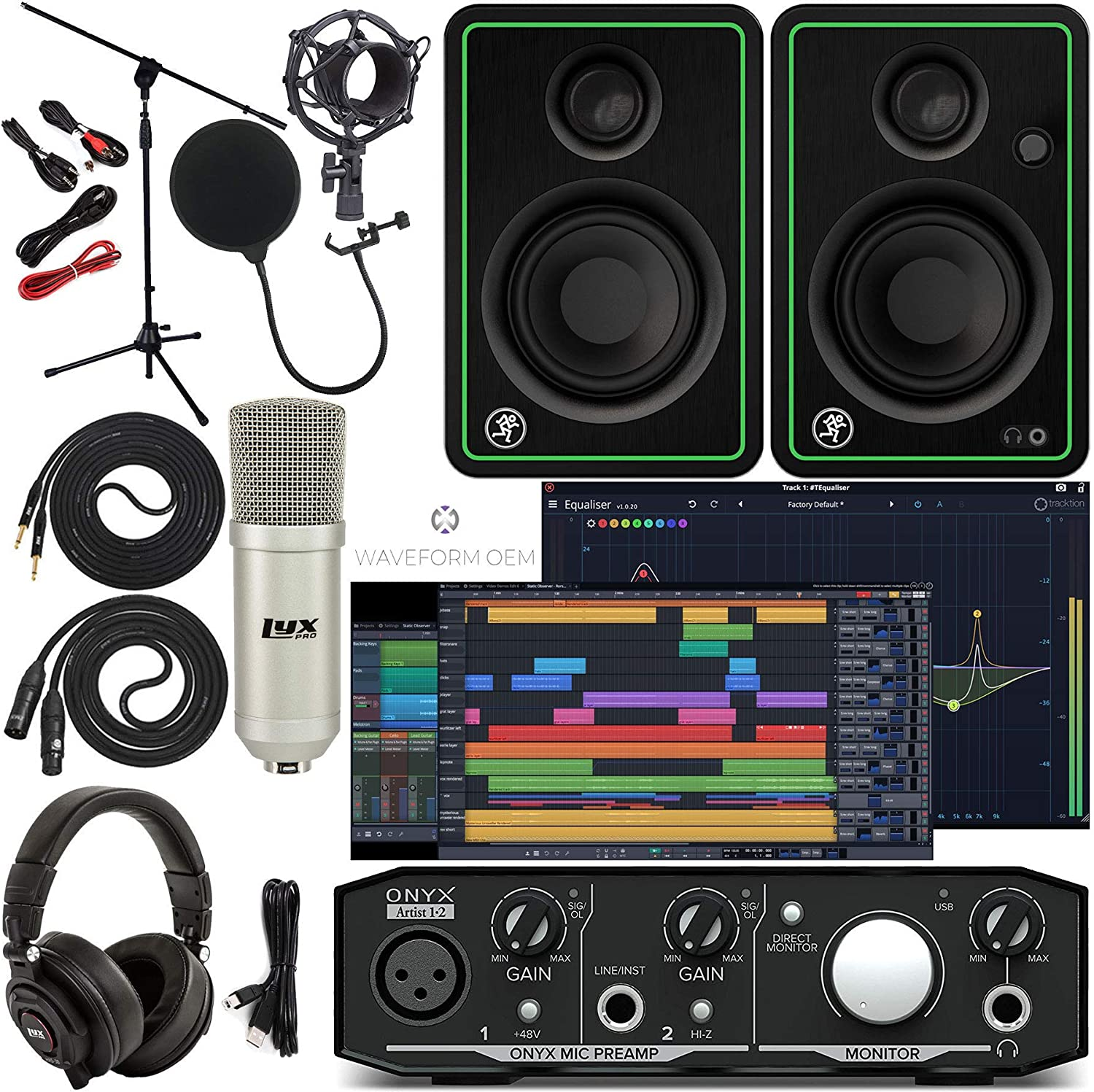 Limited Special Price Mackie Onyx Artist 1-2 Audio Interface First Tools With Trac Pro Ranking TOP13
