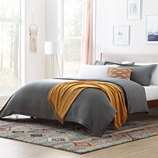Linenspa LS90FFCHMD Microfiber Duvet Cover - Three Piece Set Includes Duvet Cover and Two Shams - Soft Brushed Microfiber...