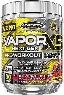 Pre Workout Powder   MuscleTech Vapor X5   PreWorkout Energy Powder   Pre Workout for Men & Women   Creatine as Muscle Bui...