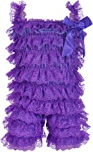 DOMIRY Sleeveless Bodysuits for Girls Lace Ruffled Bowknot Romper