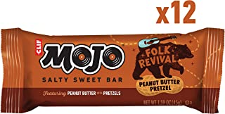 CLIF MOJO - Sweet and Salty Trail Mix Bar - Folk Revival Peanut Butter Pretzel - (1.6 Ounce Snack Bar, 12 Count)