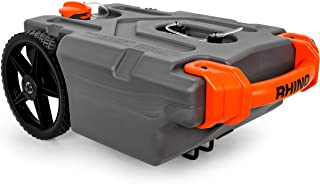Camco 39000 Rhino Heavy Duty 15 Gallon Portable RV Waste Holding Tank with Hose and Accessories - Durable Leak Free and Od...