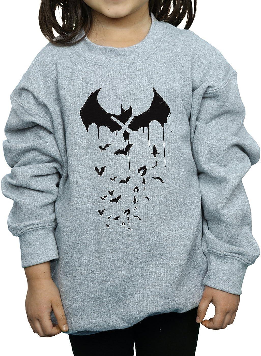 DC Comics Girls Batman Arkham Knight Bats X Drip Sweatshirt