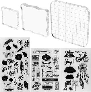 scrapbooking CURT SHARIAH regali artigianali Set di timbri trasparenti in silicone per lavori fai da te goffratura diari album decorativi