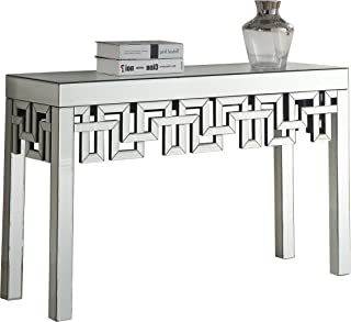 Meridian Furniture Aria Collection Modern | Contemporary Mirrored Console Table, 48