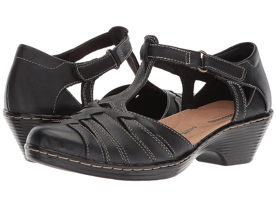 Clarks Wendy Alto (Black Leather) Women's Sandals