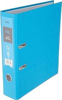 """Deli EB20130 Rio Lever Arch PP A4 File, 3"""" Spine, Blue"""