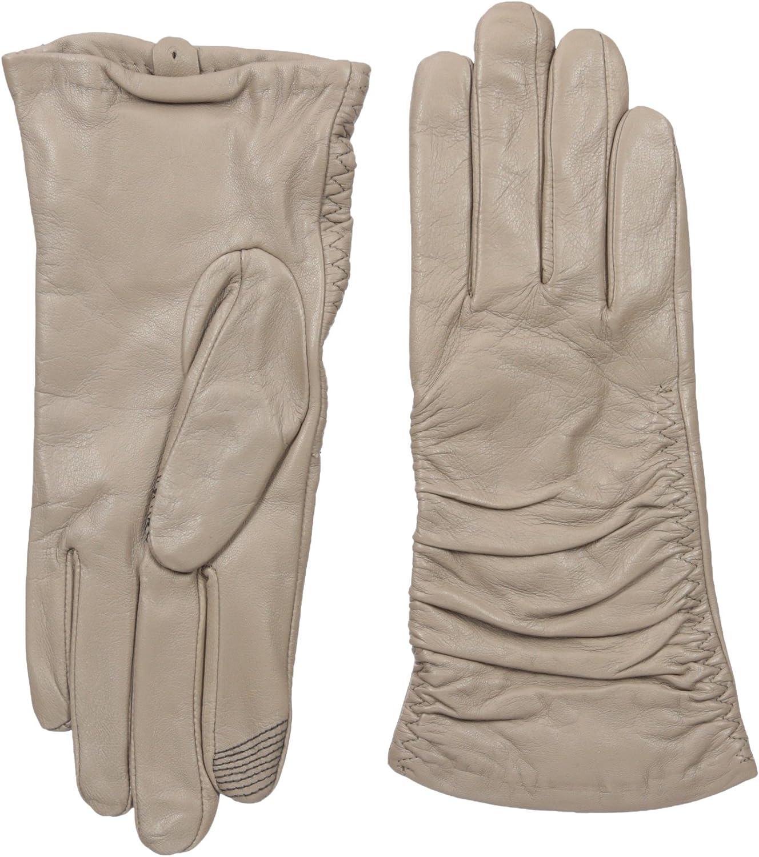 Adrienne Vittadini Women's Supple Leather Touchscreen Gloves
