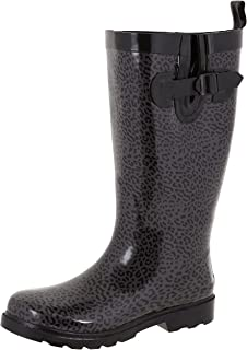 7b66cf08f Capelli New York Ladies Shiny Tall Rubber Rain Boots