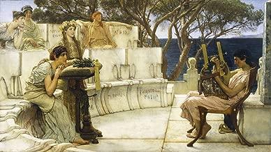 Lawrence Alma-Tadema: Sappho and Alcaeus. Fine Art Print/Poster (16 x 9 Inches)