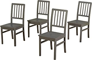 Target Marketing Systems Camden Dining Chair Set of 4, Gray