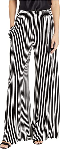 43aee5739f28 Uneven Stripe Engineered Stripe. 6. KAMALIKULTURE by Norma Kamali. Side  Stripe Boyfriend Elephant Pants.  205.00. Black