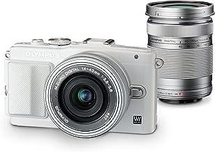 Olympus Mirrorless SLR E-PL6 with ED 14-42mm f/3.5-5.6 EZ and ED 40-150mm f/4.0-5.6 Lens Kit (White) - International Version