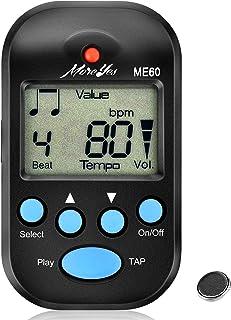 MOREYES Mini Metronome Digital with Loudspeaker Multi-functional for Saxophone Piano Guitar Violin Flute Drum (black)