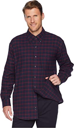 Classic Fit Button Down Collar Plaid Flannel