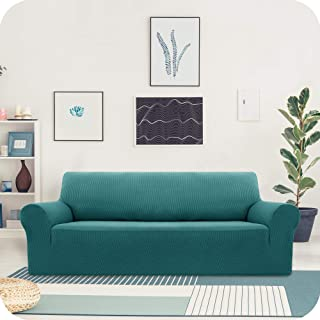 UMI. by Amazon Funda Elastica para Sofa Ajustable 3 Plazas Turquesa