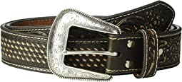 Basketweave/Floral Embossed Belt