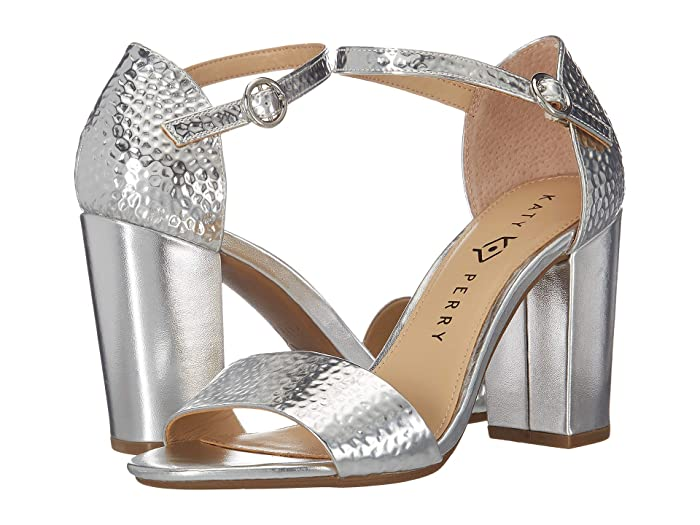 70s Shoes, Platforms, Boots, Heels Katy Perry The Liz Silver Hammered Emboss Womens Shoes $55.99 AT vintagedancer.com