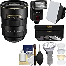 Nikon 17-55mm f/2.8 G DX AF-S ED-IF Zoom-Nikkor Lens with iTTL Flash + Soft Box + Diffuser Bouncer + 3 UV/CPL/ND8 Filters + Kit