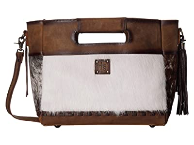 STS Ranchwear Flat Rock Tote (Cowhide/Tornado Brown) Handbags