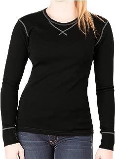 Womens Base Layer 100% Merino Wool Heavyweight 400g Thermal Shirt for Women