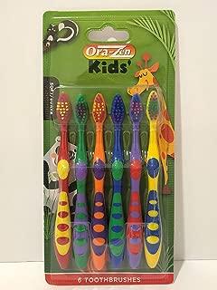 Ora-Zen Kids Multi Color Toothbrush Soft, 6-Pack