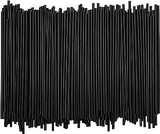 Disposable Plastic Coffee Stirrer Straw – 5 Inch Sip Stir Stick (Black, 1,000)
