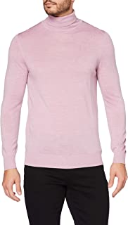 Amazon Brand - MERAKI Men's Lightweight Merino Wool Turtleneck Sweater