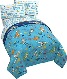 Jay Franco Disney Pixar Toy Story Playtime 4 Piece Twin Bed Set - Includes Reversible Comforter, Pillow Cover & Sheet Set ...