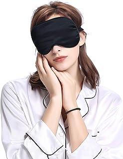 LilySilk(リリーシルク) シルクアイマスク 上品 究極の柔らか 安眠 遮光軽量 圧迫感なし 敏感肌に 旅行/昼寝に最適 男女兼用 グ (フリーサイズ) ブラック