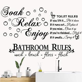 Soak Relax Enjoy Funny Bathroom Sign Room Decor Wall Decal Mirror Decal Bathtub Sign Wall Decor Gift Idea Vinyl Decal Wall Sticker Decorations