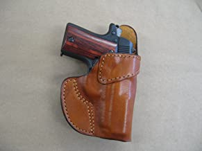 Colt Mustang 380 Leather Clip On OWB Belt Concealment Holster CCW - TAN RH