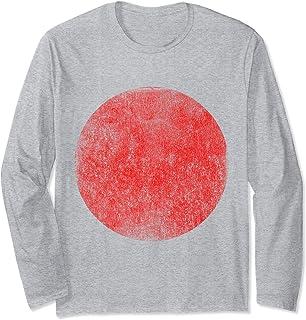 Vintage Japanese Japan Flag Manche Longue