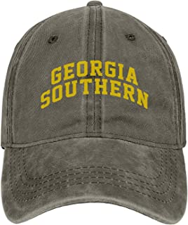 Georgia Southern University Vintage Washed Distressed Snapback Hats Unique Twill Dad Hat Dad Hats Women
