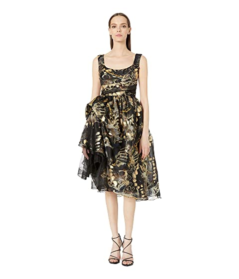 Marchesa Printed Tea Length Cocktail