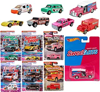 Sugar Delivery Trucks and Cars Racers Die-Cast Tarts pop Culture Bundled with Quick Sweet tarts + Matchbox 100 Grand / Laf...