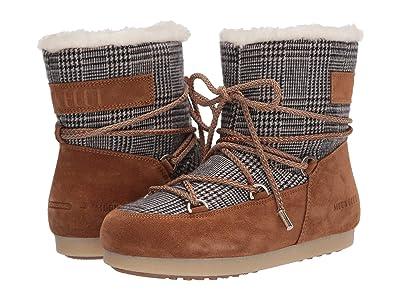 MOON BOOT Moon Boot(r) Far Side Low Faux Fur/Tartan (Whiskey) Women